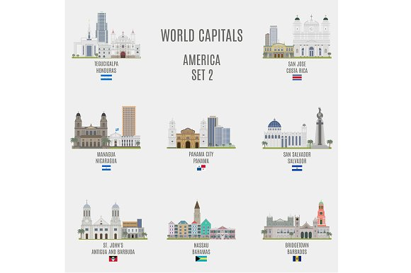 World capitals. America # 2 - Objects