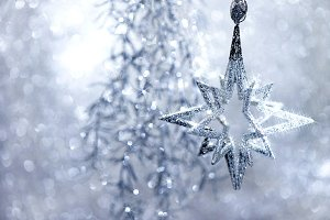 Christmas Decoraion Silver Star
