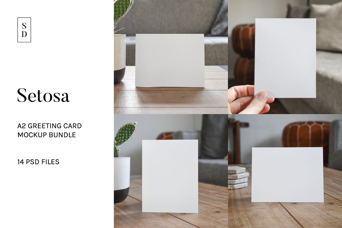 A2 Greeting Card Mockup Bundle