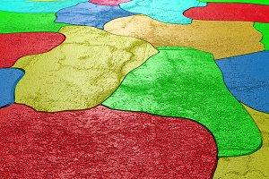 Colored floor