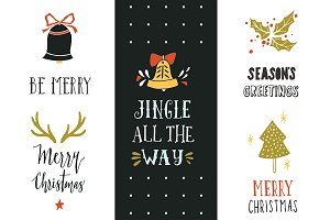Jingle all the way | X-mas lettering