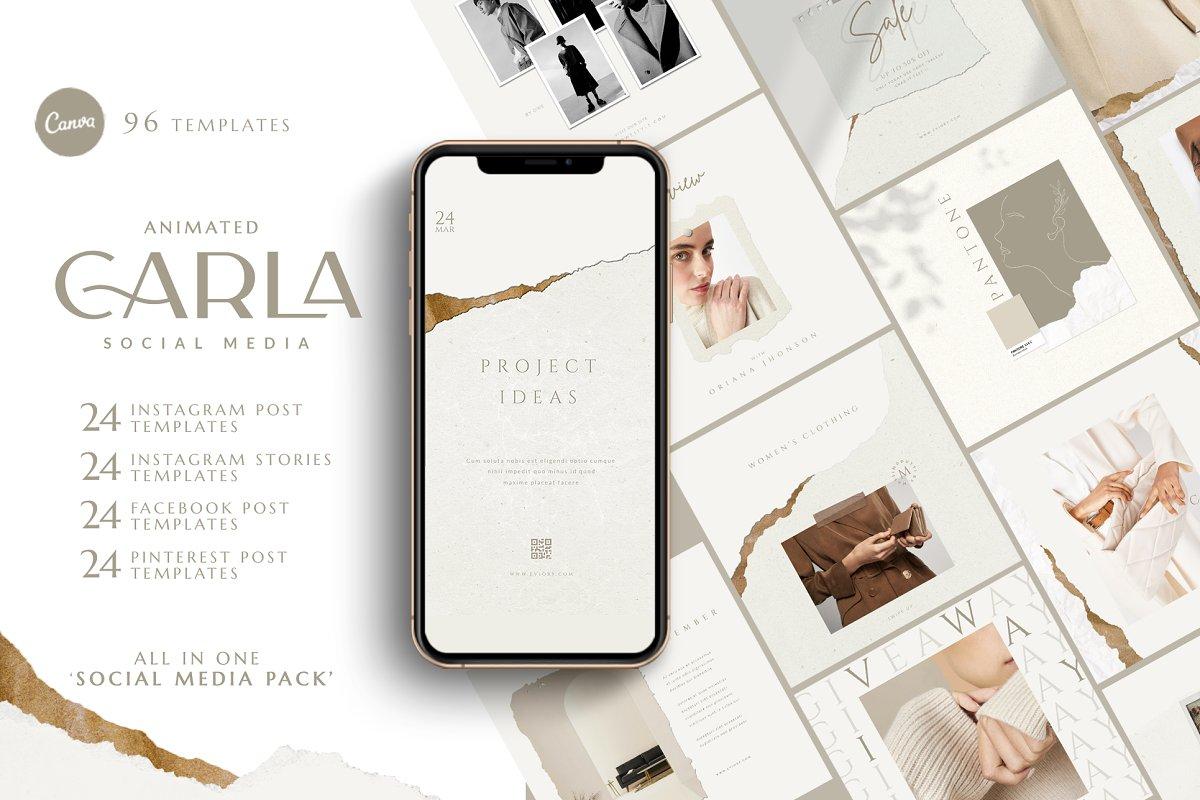 PS & Canva Carla - Social Media Pack
