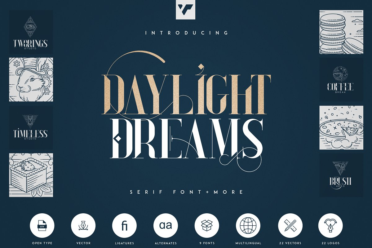 Daylight Dreams - Serif Font + Extra in Serif Fonts - product preview 8