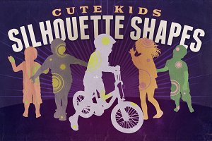Silhouette shapes - Cute Kids