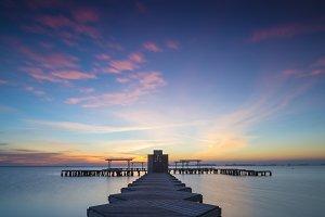 Panorama of Mar Menor lagoon, from L