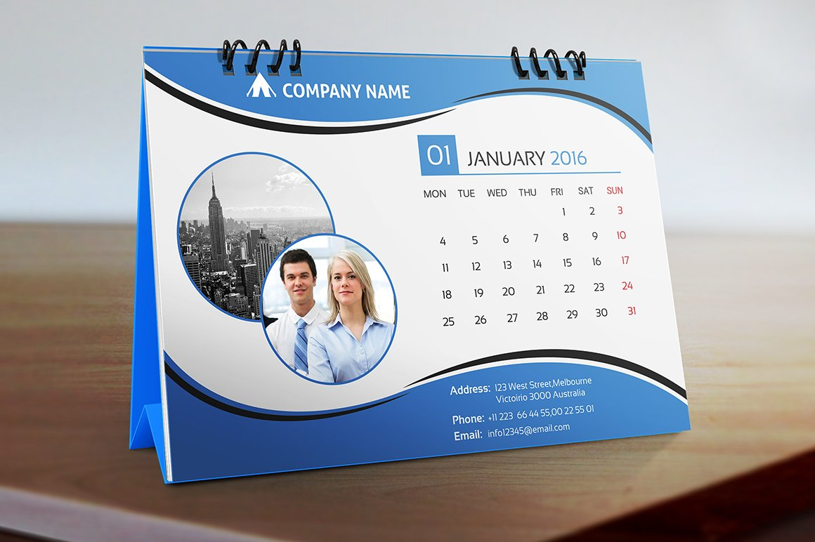 Corporate Calendar Theme Ideas : Desk calendar stationery templates creative market