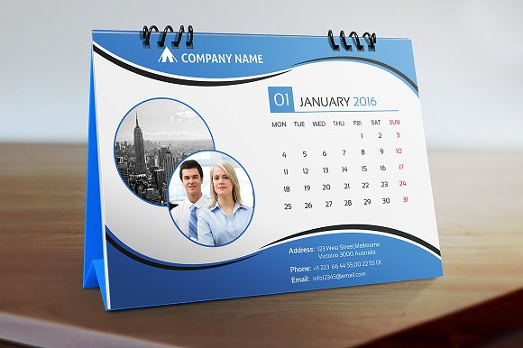 Corporate Calendar Design 2016 : Desk calendar stationery templates on creative market
