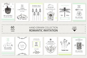COLLECTION OF ROMANTIC INVITATIONS