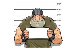Angry criminal man