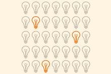 Light Bulb Seamless Pattern. Vector