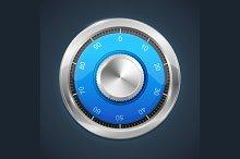 Combination Lock. Vector