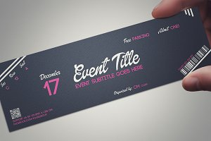 PINK DREAM ticket template