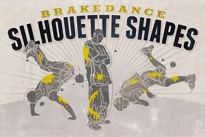 Silhouette shapes - Brakedance