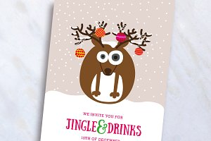 Reindeer Christmas Invite