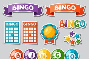 Set of bingo or lottery game.