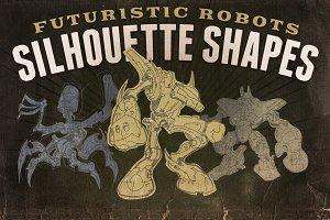 Silhouette shapes - Robots