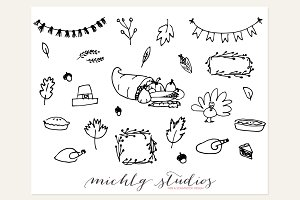 Digital Fall Clipart Vector & PNG