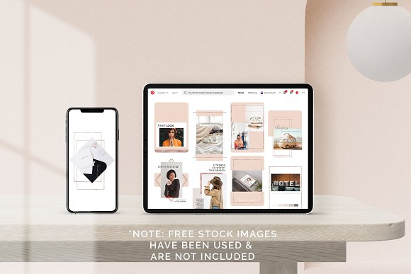Rose Gold Social Media Bundle Canva in Instagram Templates - product preview 6
