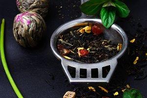 range of exotic teas