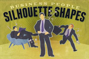 Silhouette shapes - Business People