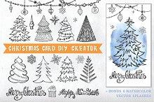 Christmas card DIY creator 01