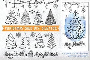 Christmas card DIY creator 01