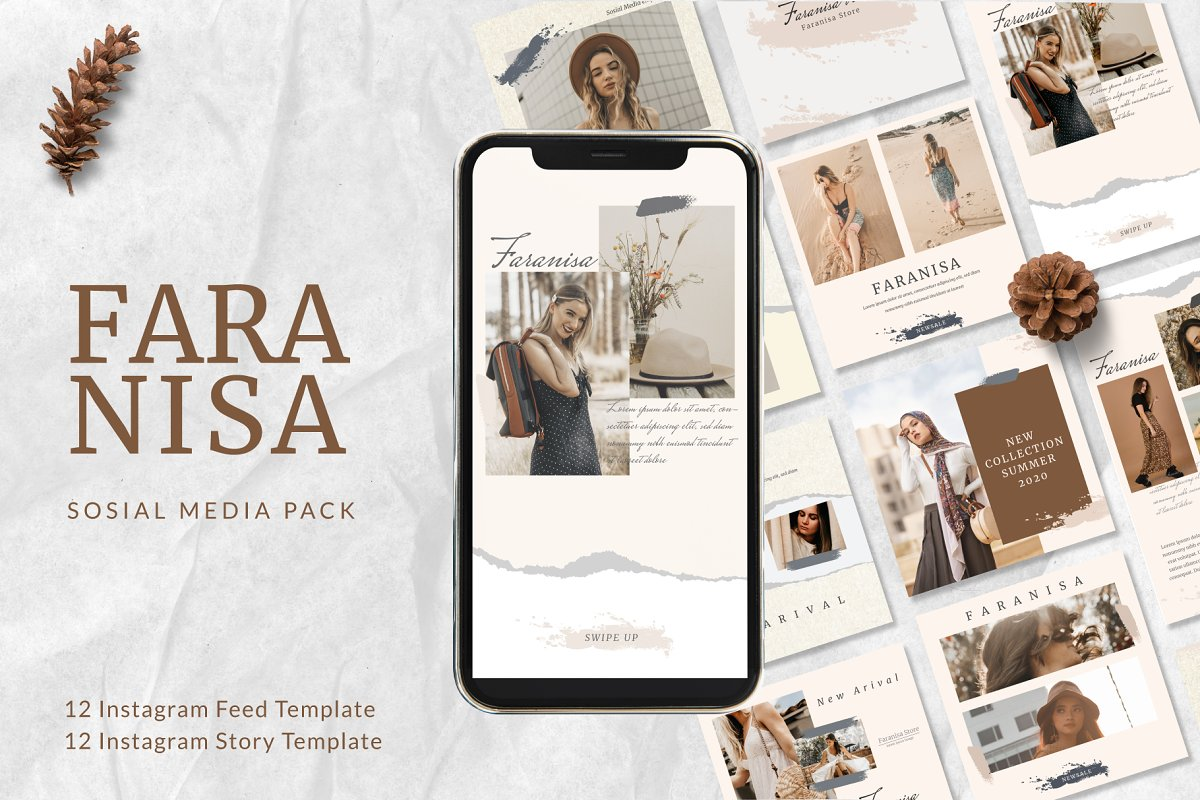 Faranisa - Instagram Feed and Story in Instagram Templates - product preview 8