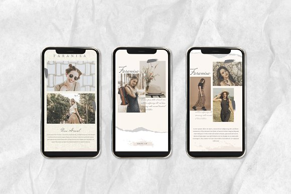 Faranisa - Instagram Feed and Story in Instagram Templates - product preview 1