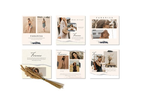 Faranisa - Instagram Feed and Story in Instagram Templates - product preview 2