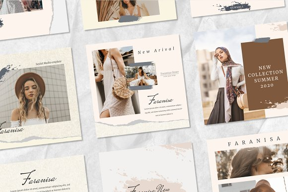 Faranisa - Instagram Feed and Story in Instagram Templates - product preview 5