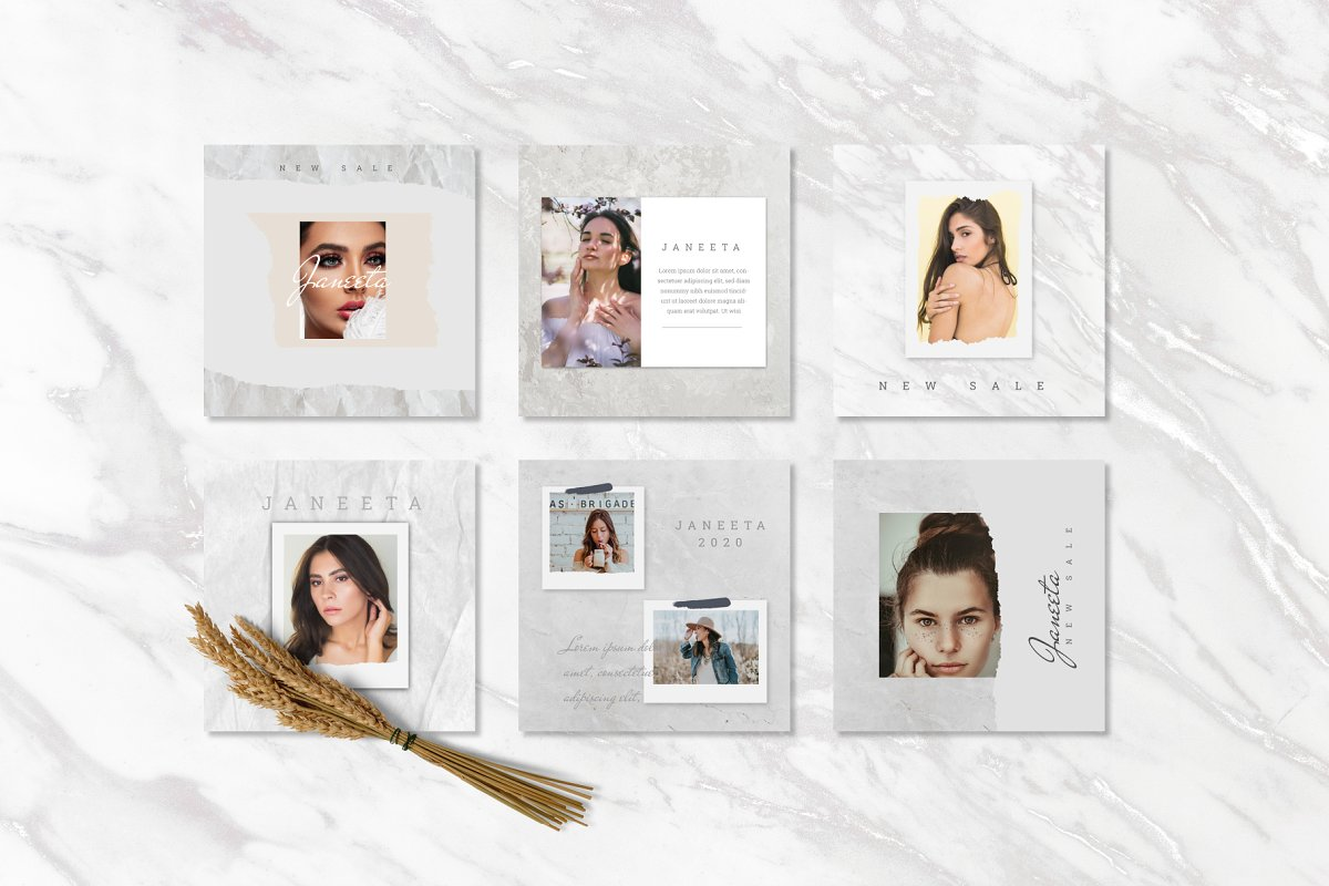 JANEETA - Social Media Template in Instagram Templates - product preview 8
