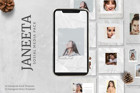 JANEETA - Social Media Template in Instagram Templates - product preview 9