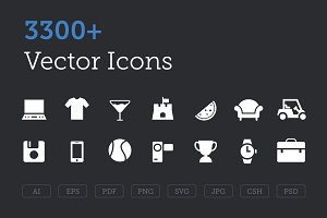 3300+ Vector Icons Bundle