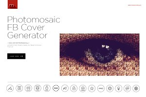 Photomosaic Facebook Cover Generator