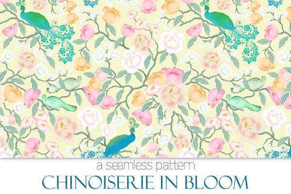 Chinoiserie In Bloom - Pattern
