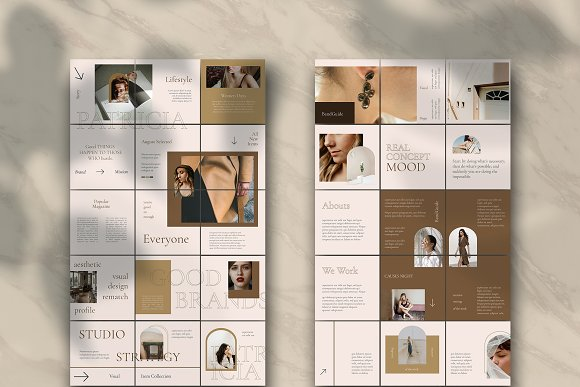 Sureeal Puzzle Instagram Feed in Instagram Templates - product preview 2