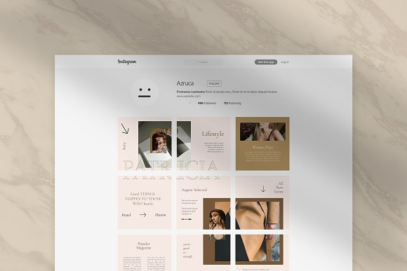 Sureeal Puzzle Instagram Feed in Instagram Templates - product preview 4