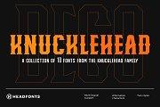 Knucklehead Deco | Vintage Font
