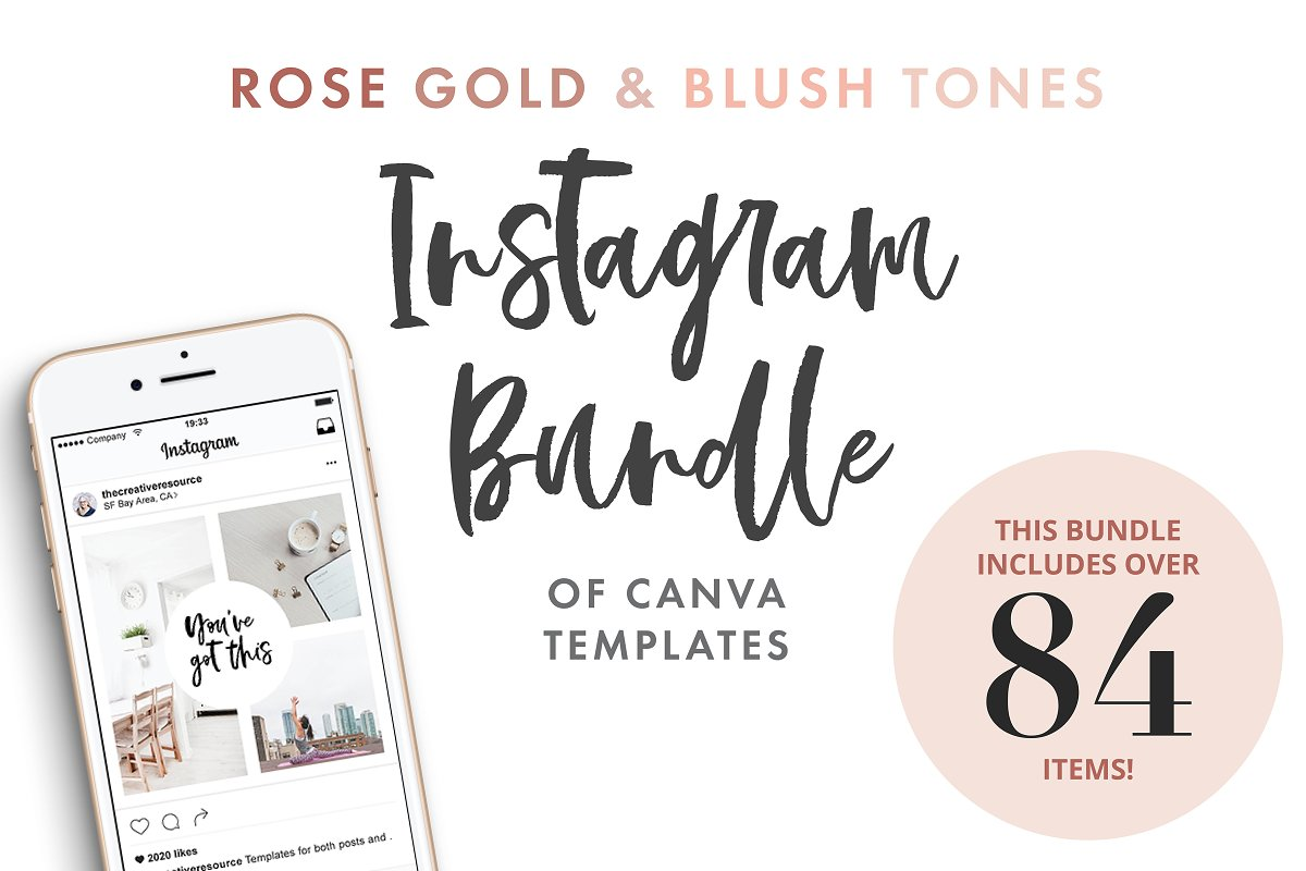 Canva Template Bundle Blush Tones in Instagram Templates - product preview 8