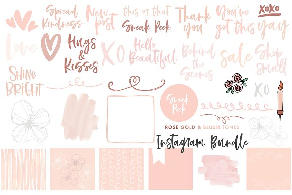 Canva Template Bundle Blush Tones in Instagram Templates - product preview 1