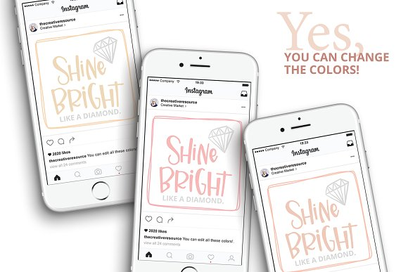 Canva Template Bundle Blush Tones in Instagram Templates - product preview 2
