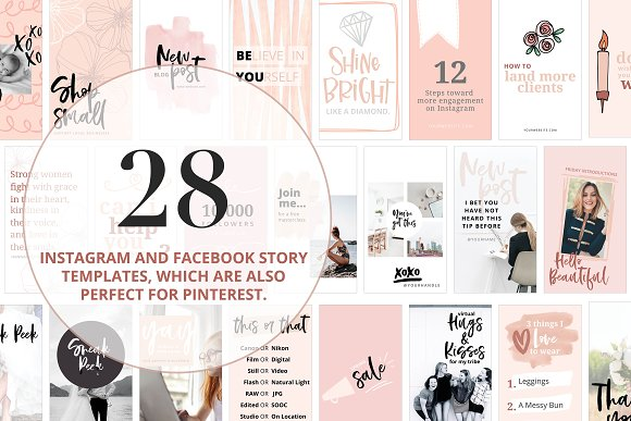 Canva Template Bundle Blush Tones in Instagram Templates - product preview 4