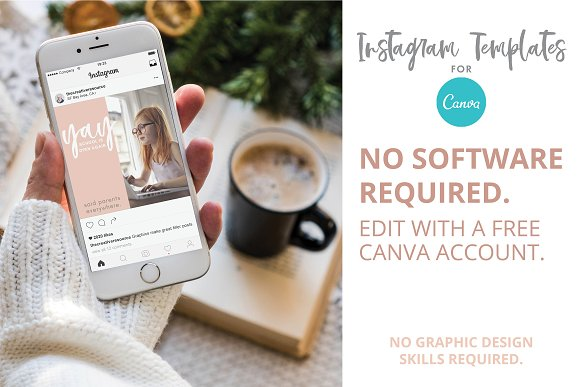 Canva Template Bundle Blush Tones in Instagram Templates - product preview 6