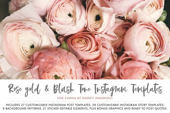 Canva Template Bundle Blush Tones in Instagram Templates - product preview 7