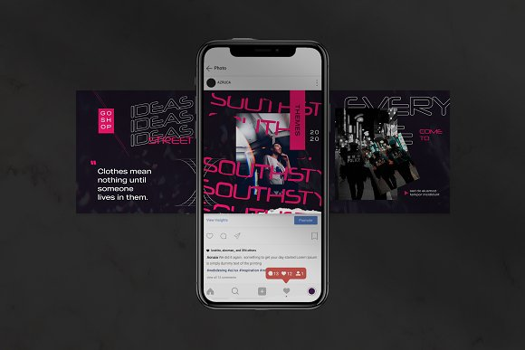 Oth-Hype Puzzle Instagram Feed in Instagram Templates - product preview 3