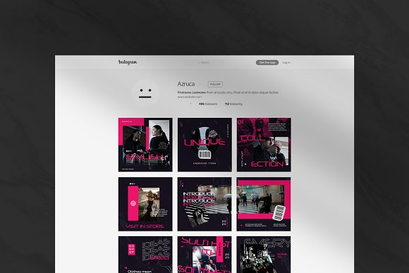 Oth-Hype Puzzle Instagram Feed in Instagram Templates - product preview 4