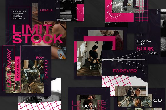 Oth-Hype Puzzle Instagram Feed in Instagram Templates - product preview 5