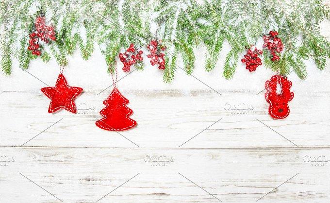 Christmas background. Decoration - Holidays