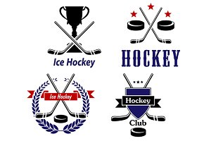 Ice Hockey emblems and badges for cl