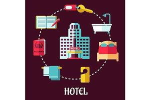 Hotel service flat design